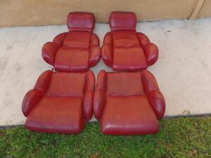 1984 1989 Corvette Seat Cushions 4 Red Reupholstered