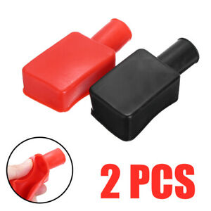 2pcs Car Boat Battery Terminal Protective Covers Insulating Replacement Cap