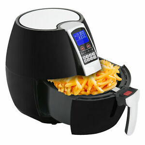 1500w Lcd Electric Air Fryer W 8 Cooking Presets Temperature Control Timer