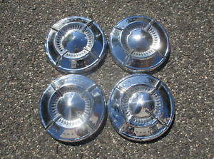 Factory 1961 1962 Chevy Impala Belair Dog Dish Hubcaps Beaters