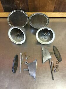 Triumph Tr6 Tr4 Mg Mgb Bullet Racing Mirrors 2 For Parts Mg4532