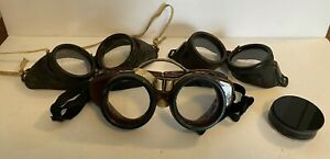 3 Vintage Welding Glasses Green And Clear Lenses Steampunk