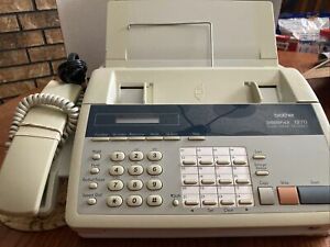 Brother Intellifax 1270 Fax Machine Plain Paper Facsimile Phone Tested And Work