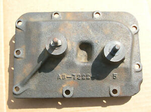 1950 S Ford 3 Speed Manual Side Cover With Levers Cast Ab 7222 B Good Used Oem