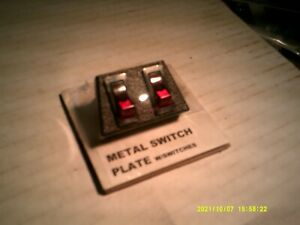 Vintage Nos Metal 2 Switch Panel Underdash Control Mounting Plate With Switches