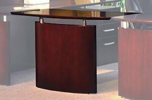 Mayline Napoli Right Hand Bridge For Use With Credenza Or Desk Sold Separatel