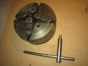 Original South Bend By Skinner 6 4 Jaw Independent Lathe Chuck 2 1 4 X 8 Tpi