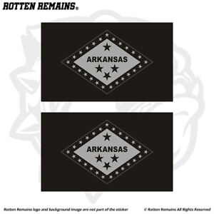Arkansas State Subdued Flag Decal Sticker SET AR Tactical Military Vinyl e5m $5.99
