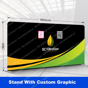 20ft Straight Tension Fabric Trade Show Display Booth Party Event Backdrop Wall