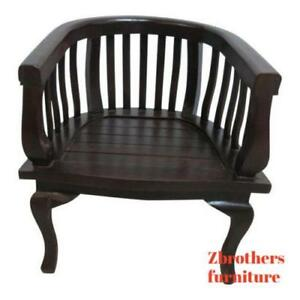 Antique French Mahogany Hand Carved Doll Fireside Lounge Club Arm Chair A