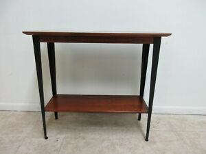 Ethan Allen Cherry American New Impressions Half Moon Console Side End Table