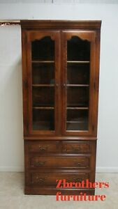 Ethan Allen Country French Display Cabinet Shelf Hutch B