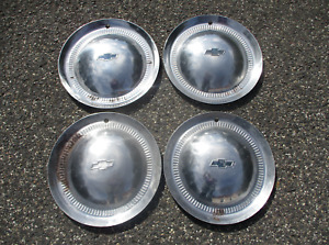 Genuine 1953 Chevy Impala Belair 15 Inch Hubcaps Wheel Covers Beaters