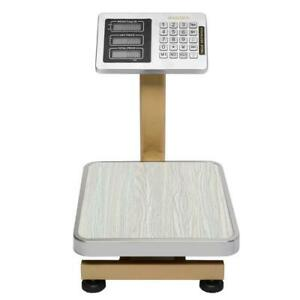 176 Lbs Weight Digital Scale Floor Platform Scale Shipping Mailing Postal Scale