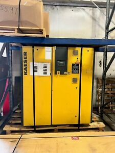 Kaeser 60 Hp Fixed Speed Air Cooled Rotary Screw Air Compressor On Skid