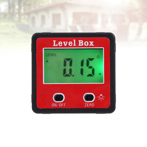 Level Box Magnetic Inclinometer Lcd Digital Protractor Angle Meter Finder Gauge