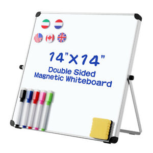 Dry Erase Board Double Sided Magnetic Whiteboard Portable Reversible W Stand
