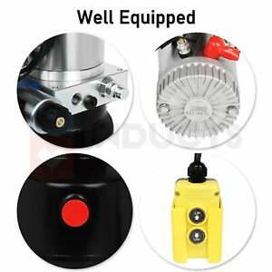 12v Double Acting 6 Quart 6 L Hydraulic Pump Dump Trailer For Wide Application