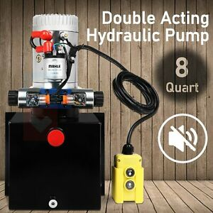Hydraulic Pump Dump Trailer Double Acting 8 Quart 8 L 12v For Wide Application