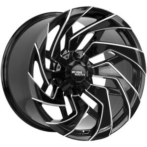 4 Off Road Monster M24 20x10 5x5 5 5x150 Black Milled Wheels Rims 20 Inch