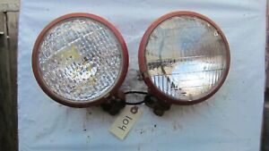 Farmall 460 560 Pair Of Head Lights With Clamp