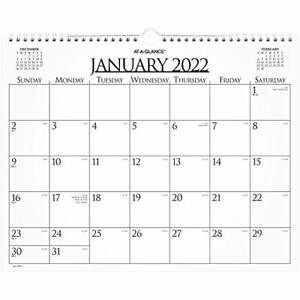 2022 Wall Calendar By At a glance 15 X 12 Medium Monthly Wirebound Business