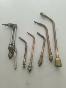 Vintage Welding Heating Cutting Torch Tips Lot Of 6