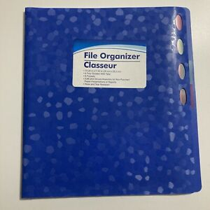File Organizer 4 Poly Dividers With Tabs 8 Pockets 10 24 In X 11 50 In