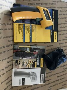 New Genuine Fluke 62 Mini Infrared Thermometer With Pouch Open Package