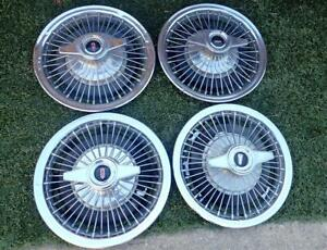 1960 S Oldsmobile Wire Wheel Covers W Spinners Cutlass F85 442 Fullsize Olds