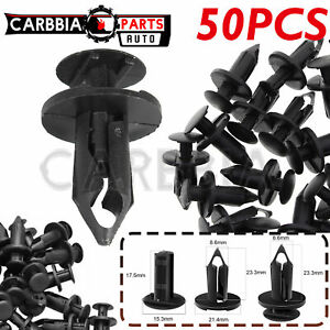 New Listing50pcs Fender Bumper Rivets Clips For Gm 21030249 Ford N807389s Chrysler 6503598 Fits 2004 Saturn Ion