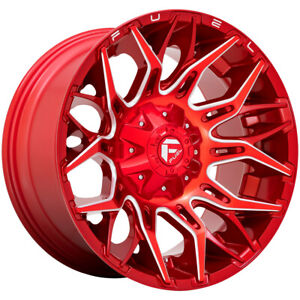 4 Fuel D771 Twitch 20x9 5x4 5 5x5 1mm Red Milled Wheels Rims 20 Inch