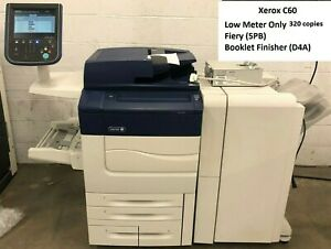 Xerox Color C60 Production Printer With Fiery And Finisher Very Low Meter