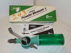 RCBS PRECISIONED UNIFLOW POWDER MEASURE 09001 LARGE CYLINDER W BOX amp; INSTRUCTION $65.00