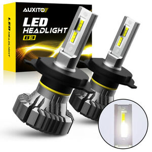 Auxito 6500k White 2000lm 100w Led Headlight Bulbs H4 9003 High Low Beam Lamps