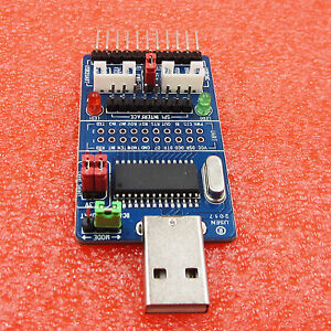 All In 1 Multifunction Usb To Spi i2c iic uart ttl isp Serial Adapter Module Hot