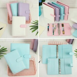 Ring Binder Planner Weekly Loose Leaf Manual Cover Notebook Diary Notebooks