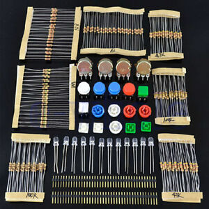 Electronic Parts Pack Kit For Arduino Component Resistors Switch Butt_da