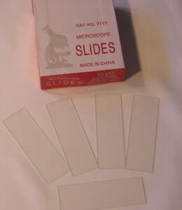 Blank Microscope Slides 3600 Pcs Ground Edges 1 x3 Case Of 50 Box 72 Each New