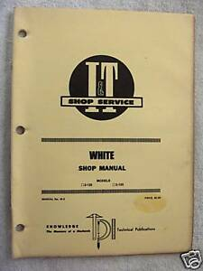 I t White 2 135 2 155 tractor Shop Manual