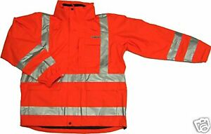 Ansi Class 3 Safety 3 in 1 Jacket Orange 28 5956 Small