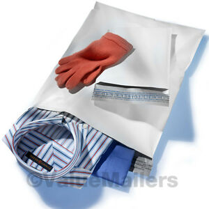 200 14 5x19 White Poly Mailers Envelopes 2 6 Mil Bags 14 5 X 19