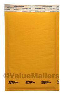 200 1 7 25 x12 Kraft Bubble Mailers Padded Envelopes