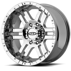 16 Moto Metal Mo951 Full Chrome 16x8 Wheel Set 16inch Trucks Off Road