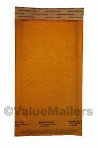 250 00 5x10 Quality Kraft Bubble Lite Bubble Mailers Envelopes Bags Usa