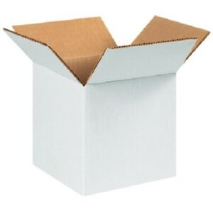 25 New 12x12x6 white packing Shipping Boxes Cartons