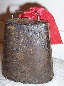 Antique Primitive Hand Forged Metal Rodeo Cowboy Bull Cow Bell