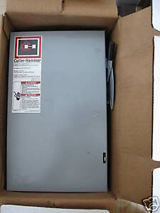 New Cutler Hammer General Safety Switch 60 Amp 240 Volt
