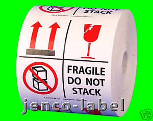 Ml44103 500 4x4 This Side Up fragile Do Not Stack Label