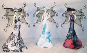 6 Butterfly Girl Dress Jewelry Display Rack Necklace